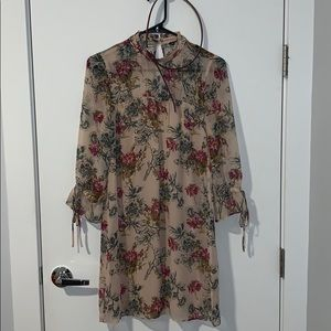 Floral dress with matching Cole Haan belt